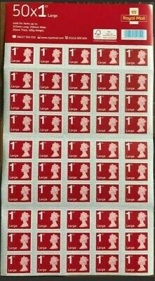 Royal Mail 1st Class Large Letter Postage Stamps - 50 Pieces. 50X 1st class.