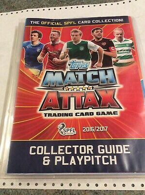 Topps match attax SPFL 16/17 Collector Guide,pitch And 113 Cards, Good Cond.