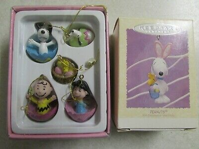Kurt S Adler Peanuts Collection Mini Snoopy Ornaments Lot Hallmark Snoopy Bunny