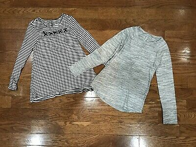 Girls Size 8 Justice Tops Shirts Lot Kids Clothing Gray Black