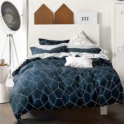 Single/KS/Double/Queen/King/Super K 100% Cotton Quilt/Duvet Cover Set-Somia