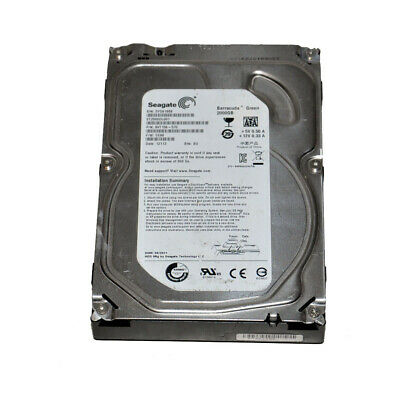 "Seagate Barracude Green ST2000DL001 2TB 5900 RPM 3Gb/s 3.5"" SATA Hard Drive"