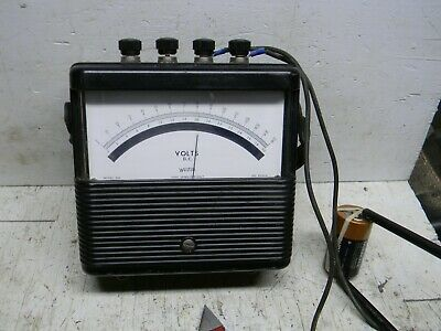 Vintage Weston Model 901 DC Volt Meter Works 3 Ranges