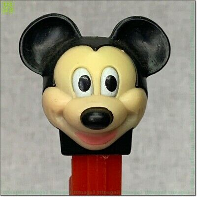 PEZ Dispenser Disney Mickey Mouse. Red color body Old pez STOCK No 1403