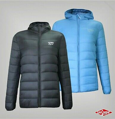 Girls Lee Cooper High Neck Originals Xlite Hooded Down Jacket Sizes from 7 to 13