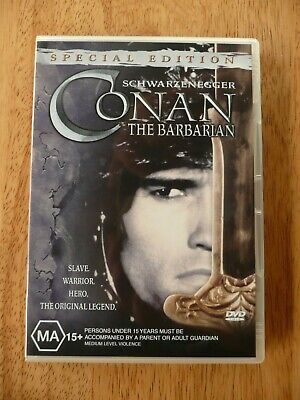 Conan The Barbarian Dvd- Like New Pal Region 4 Aus