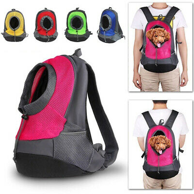 Pet Carrier Dog Cat Backpack Travel Front Mesh Bag Portable Head Out Outdoor CA