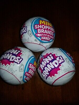 Lot of 3 Zuru 5 Surprise Mini Brands Balls. Sealed and ready to ship.