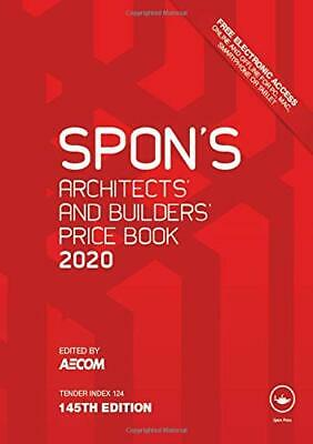 Spon's Architects' and Builders' Price Book 2020 Hardcover NEW