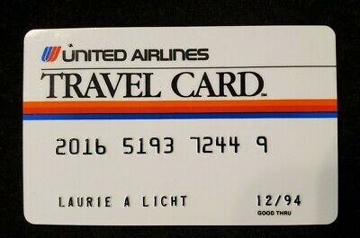 United Airlines Travel Card credit card expired 1994♡Free Shipping♡cc559