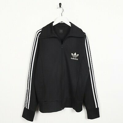 Vintage ADIDAS ORIGINALS Small Logo Tracksuit Top Jacket Black | Medium M