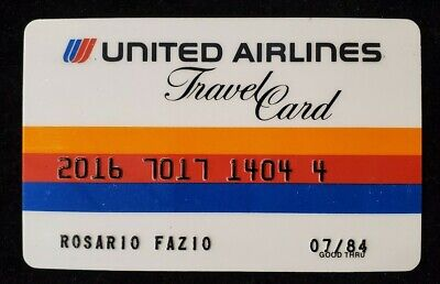United Airlines Travel Card credit card expired 1984♡Free Shipping♡cc560