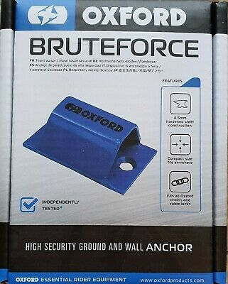 Oxford Brute Force Motorcycle Ground Anchor / wall - NEW 2020 MODEL - UK DEALER