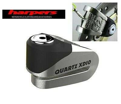 Oxford Quartz XD10 Motorcycle Disc Lock Brushed steel - UK DEALER
