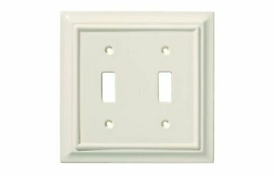 Light Almond Double Switch Plate Architectural Brainerd 126447