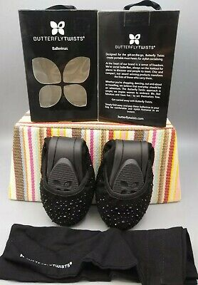 Butterfly Twists NEW Sophia Black Scattered Floral flat comfort shoes sizes 3-9