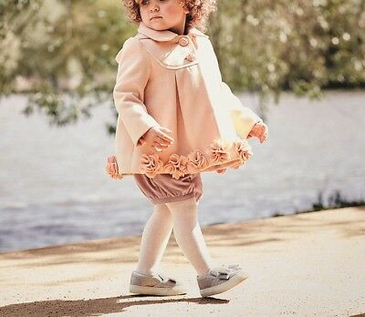 Monsoon Ellie Roses Pink Baby Girls Coat Dress Jacket 3 Months to 24 Months New
