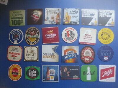 24 different Australian Issue BEER Coasters collectable P