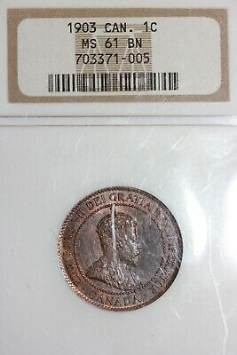 1903 MS 61 BN Canada Large Cent NGC Certified Graded Authentic Slab OCE 1263