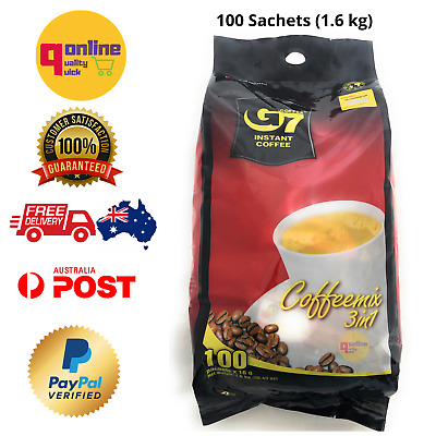 100 sachets x 16g Trung Nguyen G7 Instant Coffee 3 in1 Coffeemix
