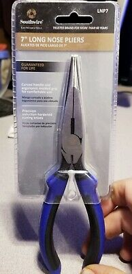 """NEW Southwire 7"""" Long-Nose Pliers w/ Side Cutter & Dipped Handles LNP7 USA Made"""