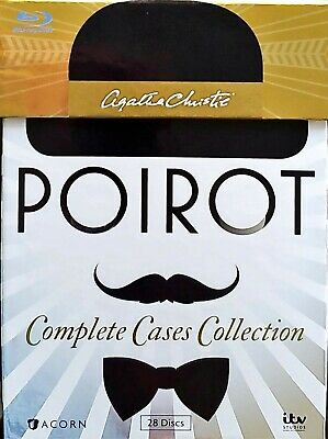 Agatha Christie's Poirot: Complete Cases Collection (Blu-ray, 2014, 28-Discs)
