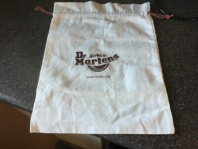 "DR. MARTENS cream medium cotton drawstring shoe boot pump bag 13"" x 17"" NEW"