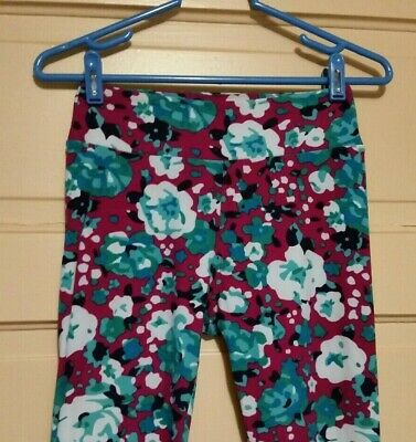 LuLaRoe Women's One Size S - XL Multicolor Floral Soft Stretchy Leggings