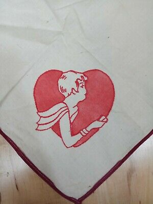 Vintage 40s 50s Tablecloth Hand Embroidered Playing Cards Suits Themed Bridge