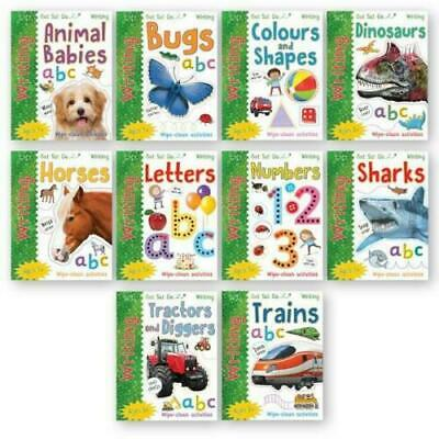 Miles Kelly Wipe Clean Learn To Write 10 Books Collection Set With Marker Pen