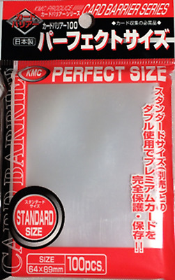 100 Sleeves KMC Magic PERFECT SIZE Clear Trasparente Bustine Protettive 64x89