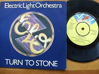 """ELO ELECTRIC LIGHT ORCHESTRA 1977 TURN TO STONE 7"""" 45 rpm SINGLE VINYL RECORD"""