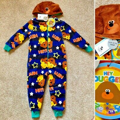 Tu HEY DUGGEE Boys Blue Warm Cosy Hooded All in One Robe - 2-3 Years - New!