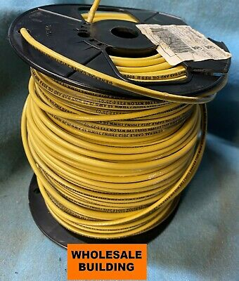 General Cable-10 AWG,19 Strand,600V,Annealed Copper,PVC Insulation-Yellow-500 ft