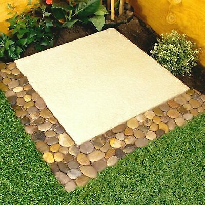 Pack Of 4 Pebble Stone Border Garden Patio Lawn Path Decor Edging Strips Wall