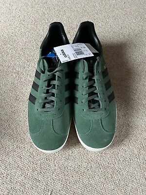 ADIDAS ORIGINALS MENS gazelle trainers UK 9 greenblack