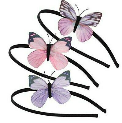 3 Beautiful Butterfly Hair Bands 3 Gorgeous Butterfly Headband Child