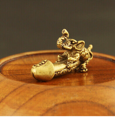 China Antique Accessories Collection Brass Elephant Pendant Gift Toys