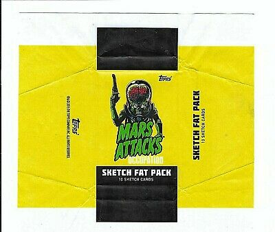 Mars Attacks Occupation Topps 2015**Sketch Fat Pack Wrapper (No Cards)