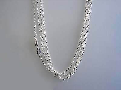 Sterling  Silver Becher Rolo Half Round Chain 925.   Necklace