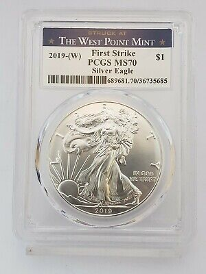 2019-(W) 1 oz American Silver Eagle $1 Coin PCGS MS70 First Strike (14IC)