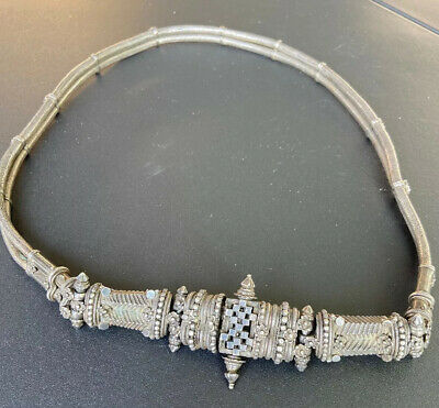 Antique Heavy Rare Asian Hand Made Silver Belt