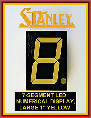 Stanley 7-Segment One-Inch Yellow Led Numeric Readout, 5V, Common Anode