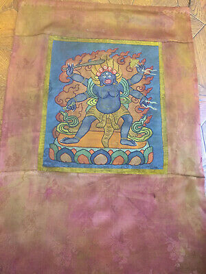 Mongolian ANTIQUE Buddhist OLD APPLIQUE 19c (NICE)