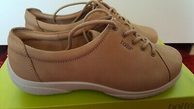 Hotter Dew Model Shoes in Brown Sand Nubuck Suede UK4 US6 EU37 - New In Box