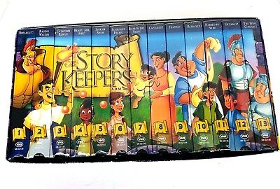 The Story Keepers VHS Box Set 13 Videos Christian Bible Animated Movies