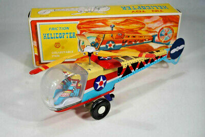 Lagerfund - Blechspielzeug - China MF 334 Helicopter Friction - Tinplate - boxed