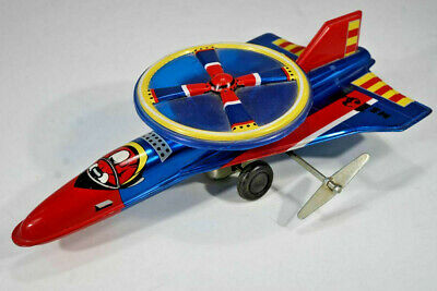 Red China - MS 134 Aircraft Jet - Tin Toy - Blechspielzeug