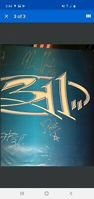 311 Autographed Poster - Auto,d All Band Members Nick Hexum, SA Martinez, PNut+