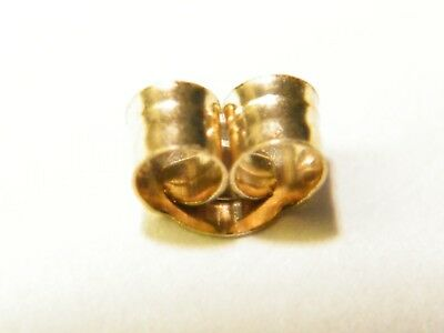 Pair 18ct Yellow Gold Small  Butterfly Back  Scrolls  Push Fit 18K//.750